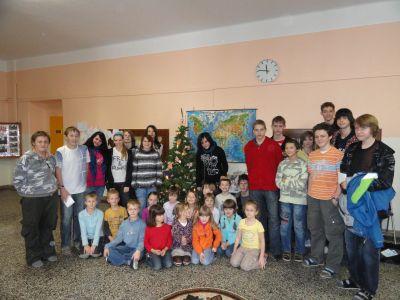 Vánoční setkání žáků.