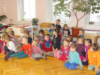 Návštěva v MŠ Montessori 2014