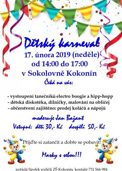Dětský karneval 17.2.2019