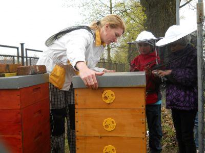 Návštěva u včelaře.