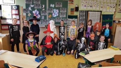 Halloweenské vyučování