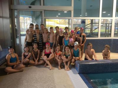 Vítězní plavci z 1. stupně