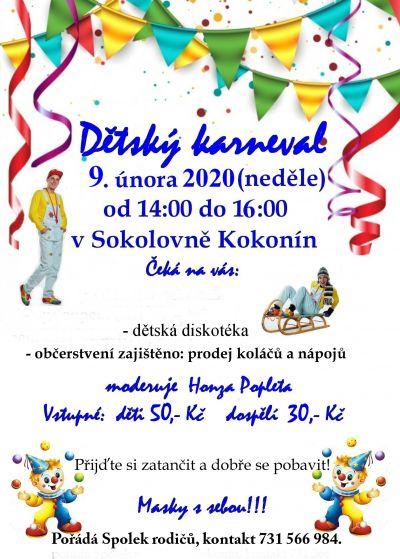 Dětský karneval 9.2.2020
